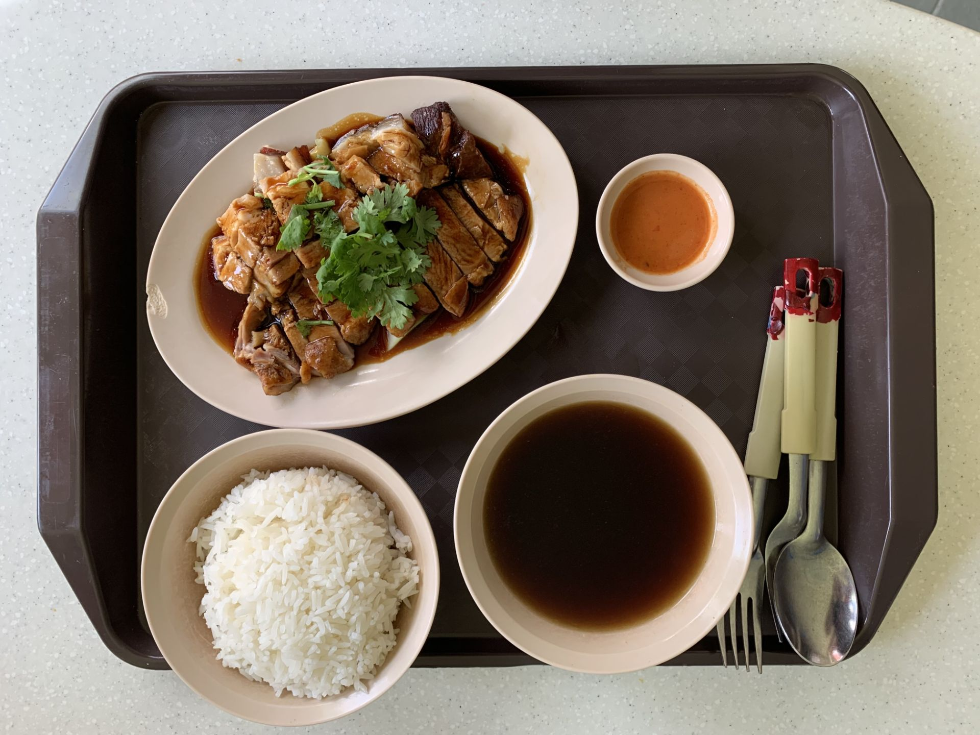 Braised Duck Pig's Stomach Soup